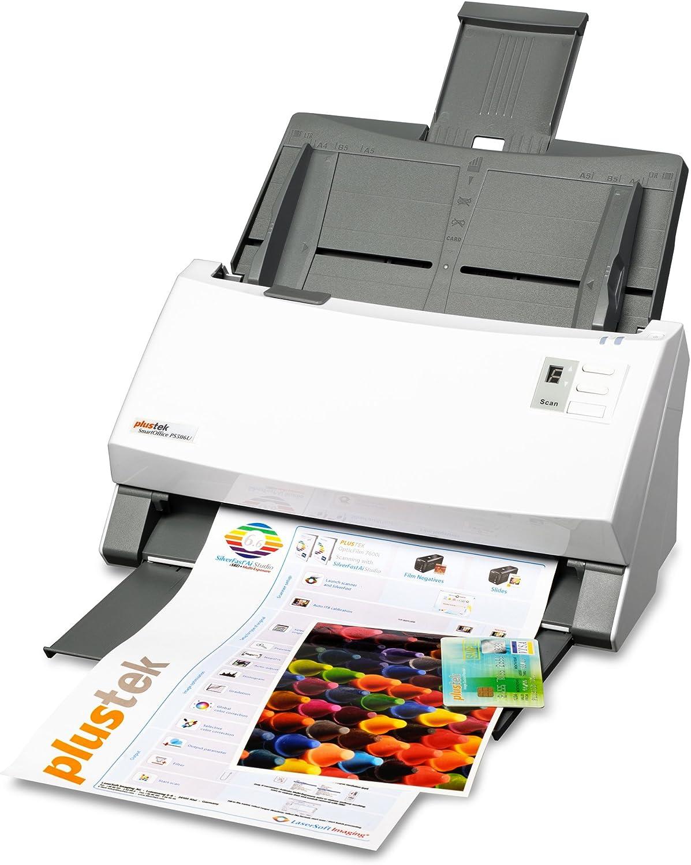 Plustek SmartOffice PS506U Departmental Document Scanner, 50ppm/100ilm Speed, 100 Page ADF, Instant On