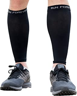 Best Calf Compression Sleeves - Leg Compression Socks for Runners, Shin Splint, Varicose Vein & Calf Pain Relief - Calf Guard Great for Running, Cycling, Maternity, Travel, Nurses Review