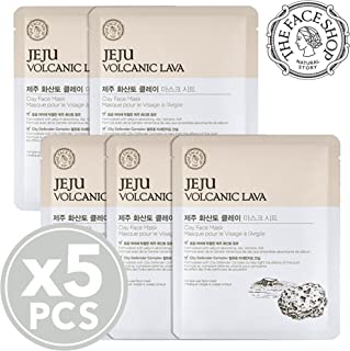 [THEFACESHOP] Jeju Volcanic Lava Clay Facial Mask Sheet (5 Sheets)