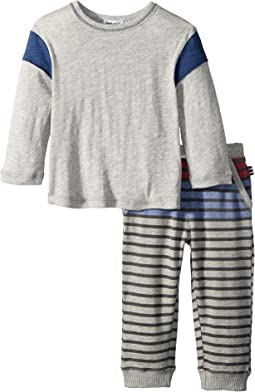Splendid Littles Front Stripe Print Pants Set (Infant)