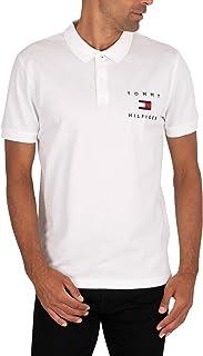 Tommy Hilfiger Men's Logo Polo Shirt, White