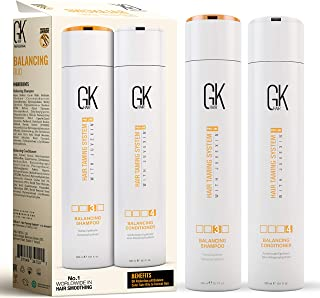 Global Keratin GKhair Balancing Shampoo & Conditioner 300ml Para cabello graso y tratado con color Dúo de uso diario Limpi...