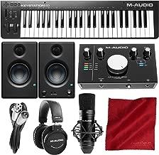 M-Audio Keystation 49 MK3 Compact 49-Key USB-Powered MIDI Keyboard Controller with M-Audio M-Track 2X2 Vocal Production Kit Premium Studio Bundle