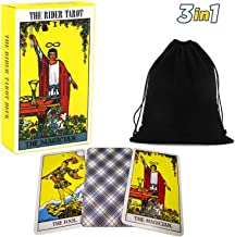 Smart Electronic Solutions Tarot Cards Set Rider Waite Tarot Cards Deck with English Instructions Book EBook (Optional) Manual Booklet 78 Tarot Cards Deck with Black Velvet Pouch Gift Bag