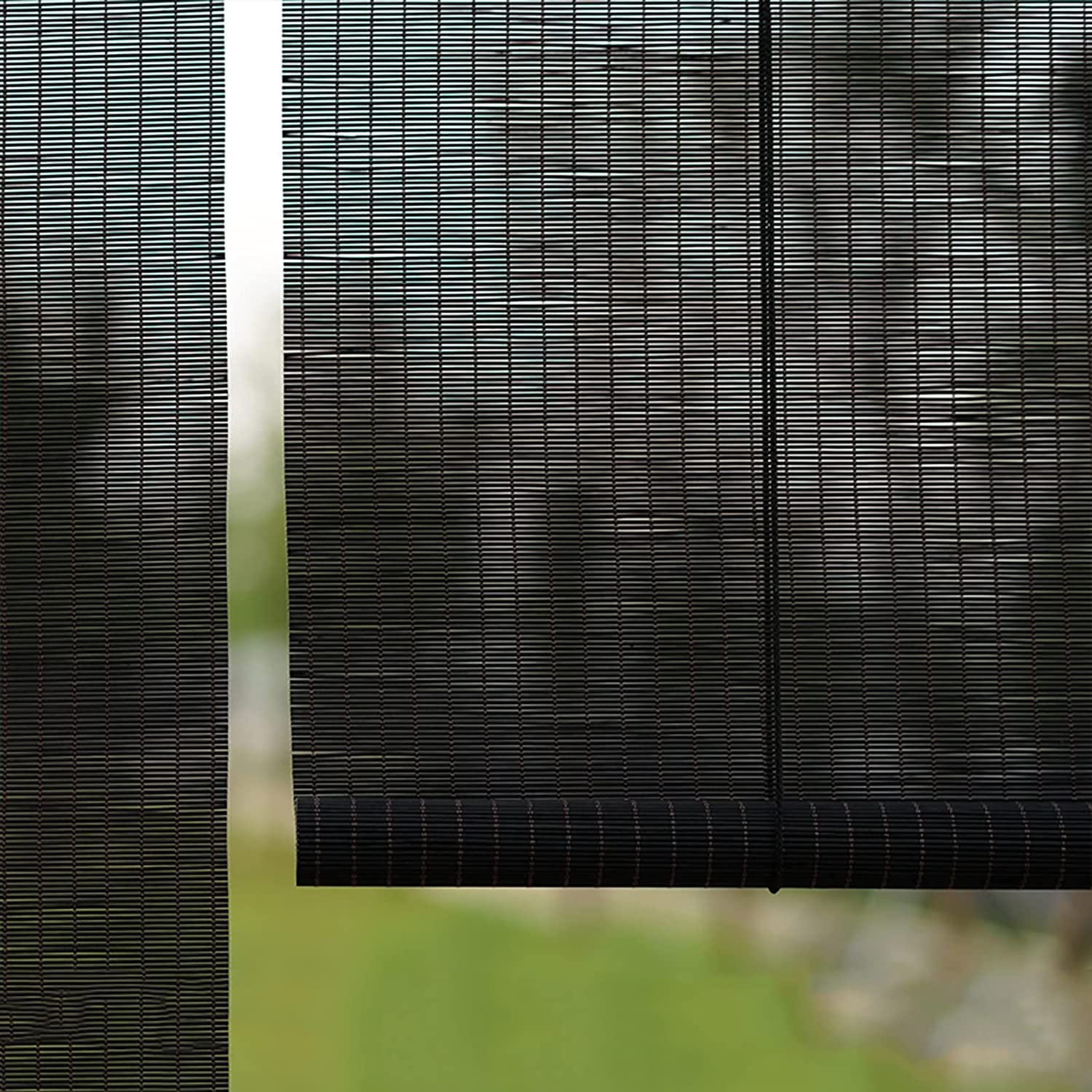 Reservation Roller Blinds Exterior Bamboo for Up Semi-Blackout SEAL limited product Garden Roll