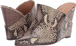 Neutral Glossy Desert Snake Print Fabric