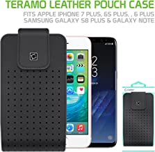Cellet Teramo Leather Pouch With Heavy Duty Belt Clip, 360 degree rotation Compatible for Apple iPhone XS Max/8 Plus/7 Plus/6S Plus Samsung Note 9/8/5 Galaxy S9 Plus/S8 Plus and Large size Smartphone