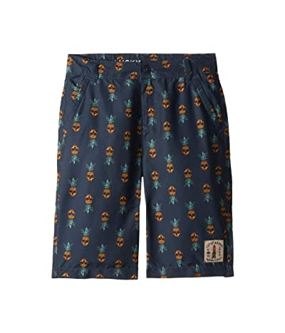 Lucky Brand Kids Pineappple Boardshorts (Big Kids) (Blue Night) Boy