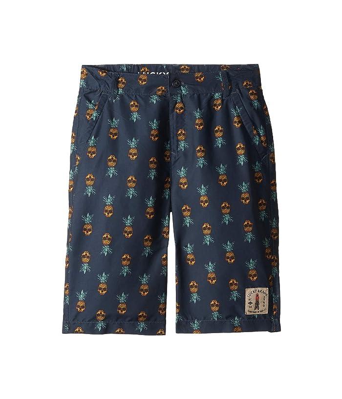 Lucky Brand Kids Pineappple Boardshorts (Big Kids) (Blue Night) Boy