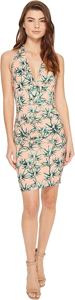 Nicole Miller - La Plage By Nicole Miller Tidal Pleat Halter Cover-Up Dress