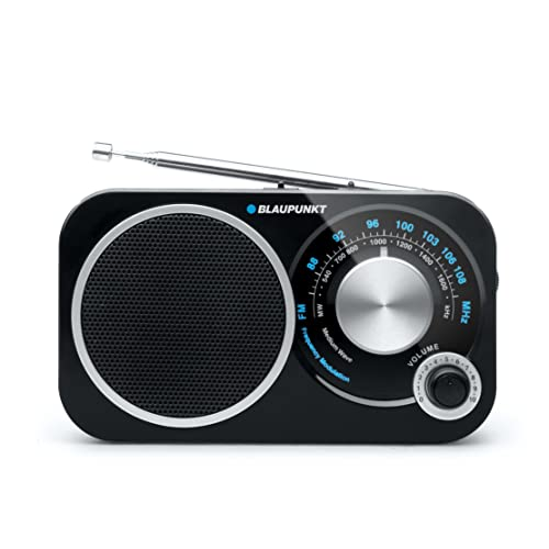 Blaupunkt BA 208 Radio Analogique de Voyage FM/MW Noir