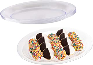 Impressive Creations Clear Oval Plastic Serving Tray Platter (5 PK) 11