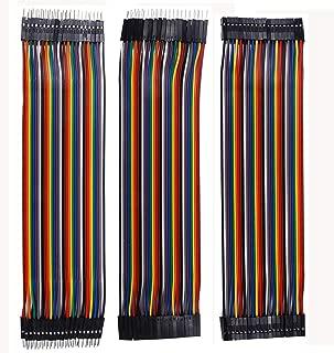 MCIGICM 120 Pcs Breadboard Jumper Wires, 40pin Male to Female/ 40pin Male to Male/ 40pin Female to Female Breadboard Wires Wire(8 inch)