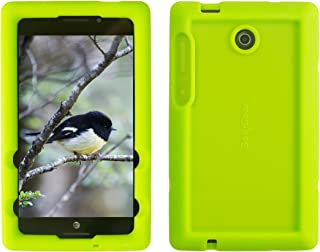 Bobj Rugged Case for ASUS K00X, MeMO Pad 7 LTE ME375CL – BobjGear Custom Fit - Patented Venting - Sound Amplification - BobjBounces Kid Friendly (Gotcha Green)