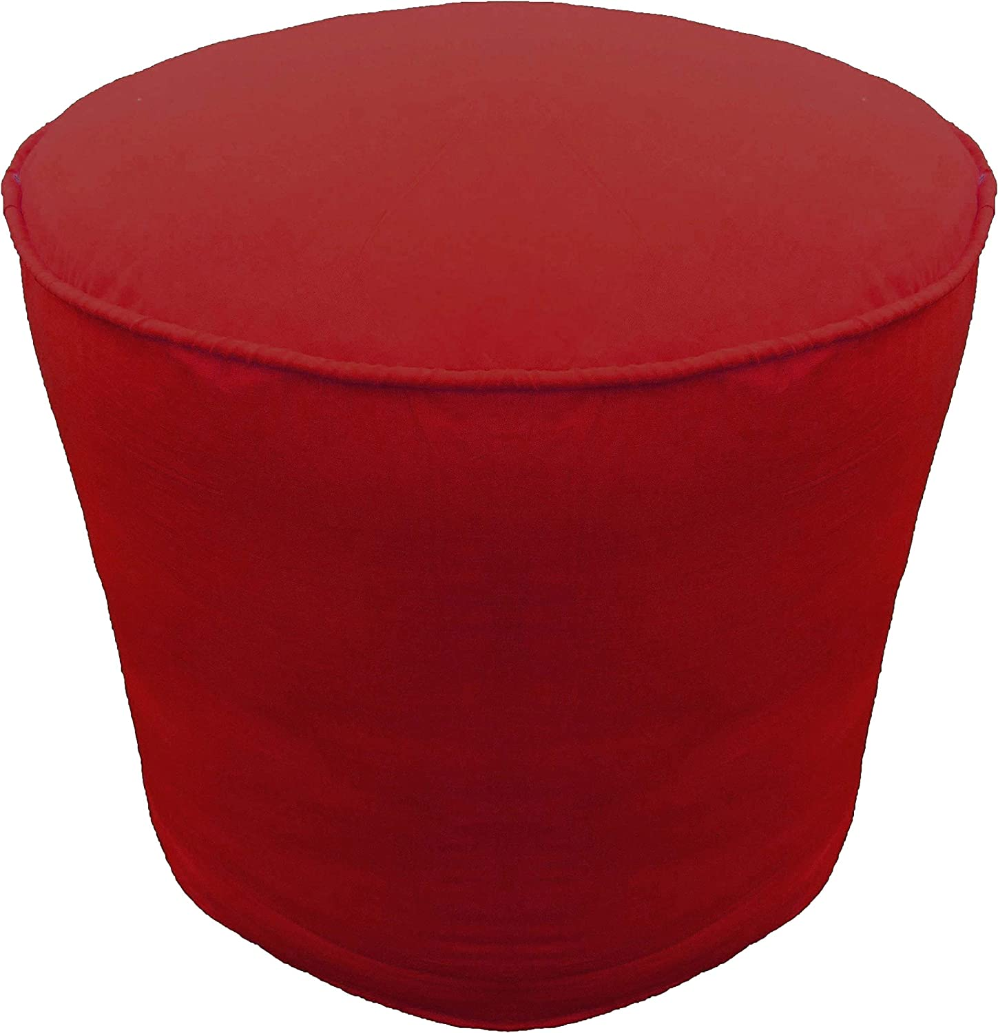 Pouf Cover with Manufacturer regenerated product Piping Round Footstool Columbus Mall Burg Ottoman Cotton