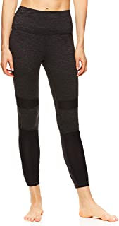 Gaiam Women's High Rise Waist Yoga Pants - Performance Compression Workout Leggings - Athletic Gym Tights
