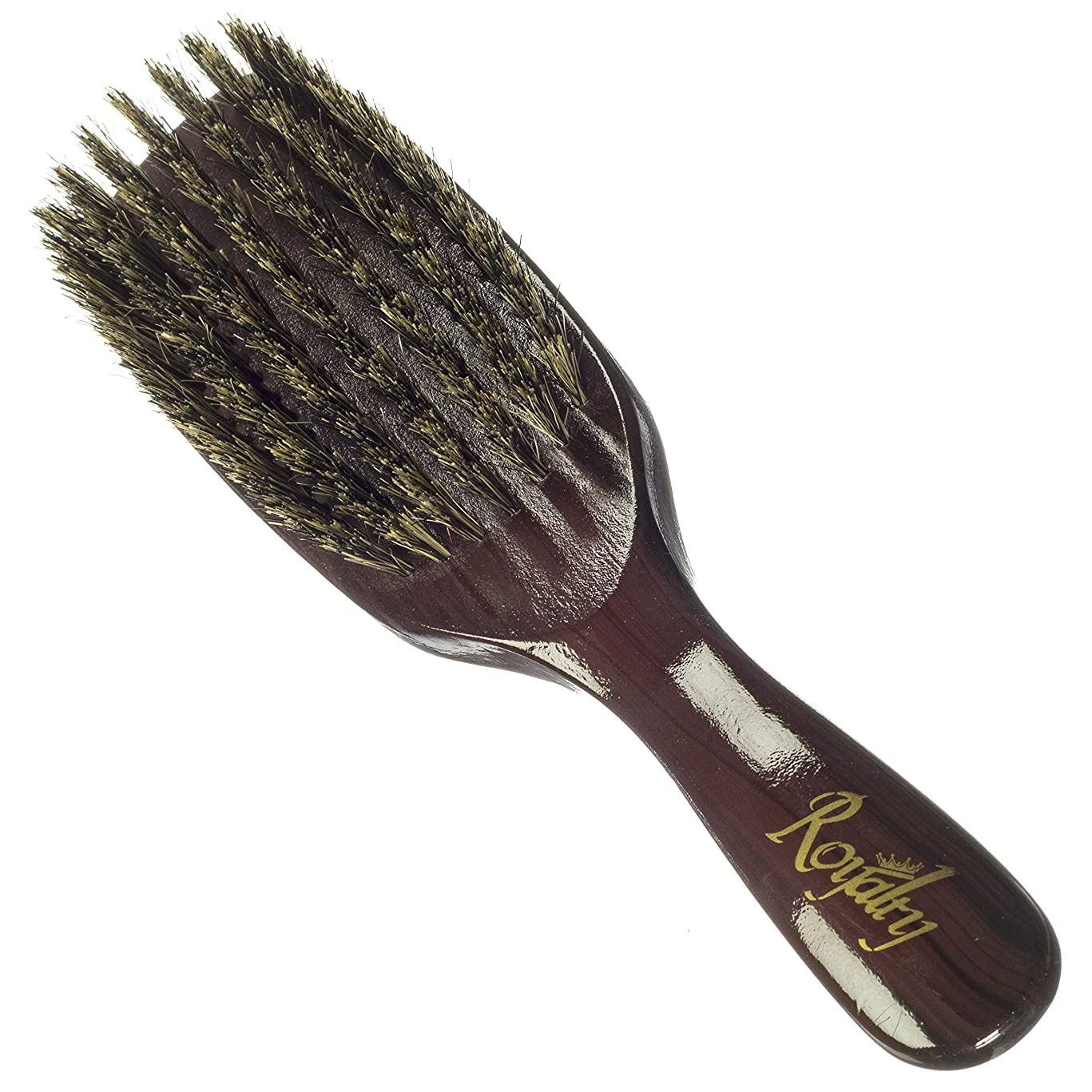 Royalty By Brush King Wave Brush #724-7 Row Medium with a lot of pull- Not for fresh cuts- From the maker of Torino Pro 360 waves brushes