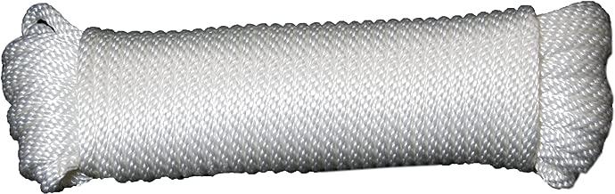 T.W Evans Cordage 44-125 3/8-Inch Solid Braid Nylon Rope 50-Feet Hank