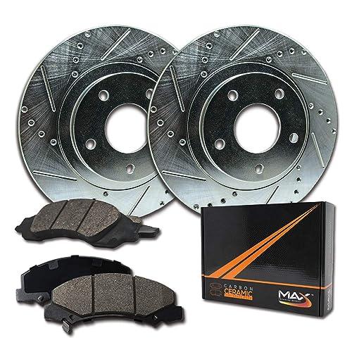 OE Series Rotors + Ceramic Pads Fits: 2001 01 2002 02 2003 03 Oldsmobile Aurora Max Brakes Front & Rear Premium Brake Kit KT076043