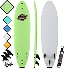 Soft Top Surfboard - Best Foam Surf Board for Beginners, Kids, and Adults - Soft Top Surfboards for Fun & Easy Surfing - 7' Ruccus, 8' Verve & 8'8 Heritage Surfboards All Wax-Free