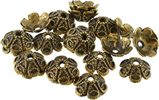 GOELX Gold Bead Caps Antique Finish For Jewelry Making Design 2