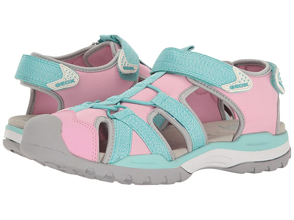 Geox Kids Jr Borealis Girl 3 (Big Kid) (Light Pink/Watersea) Girl