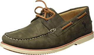 US Polo Association Men's Andrade Leather Boat Shoes