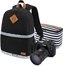 Kattee Women's Canvas SLR DSLR Camera Backpack 14
