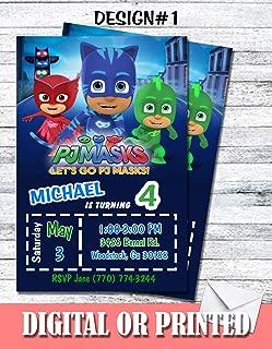 Pj Masks Personalized Birthday Invitations More Designs Inside!