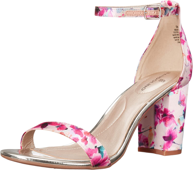 Bandolino Women's Armory Heeled Sandal, Pink Floral, 9.5 M US