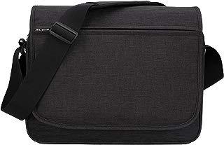 MIER Unisex Laptop Messenger Bag for 15.6 Inches Computer Shoulder Crossbody Bag for Work and School, Multiple Pocket, Update Black