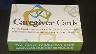Caregiver Cards - Picture Based Communication Cue Cards for Adults with Memory, Speech, and Cognitive Challenges Due to Alzheimer's, Related Dementia, Autism and Other Disorders