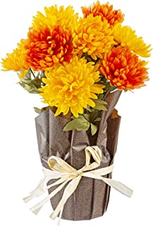 faux potted mums