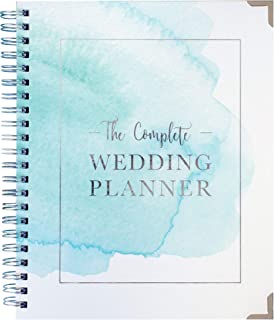 $31 » Wedding Planner Watercolor - Undated Bridal Planning Diary Organizer - Hard Cover, Pockets & Online Support