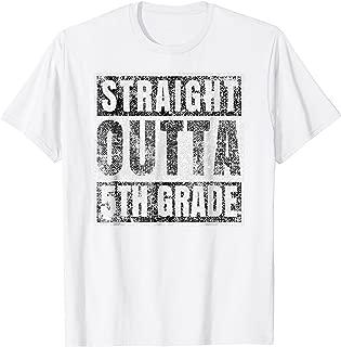 Straight Outta 5th Grade T-Shirt Graduation Gift Her Him Boy