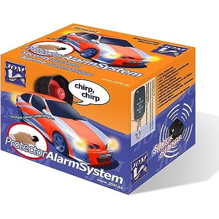 Jom Car Parts Car Hifi Gmbh 7106 Alarmanlage Universal Mit Funkfernbedienung Und Zv Ansteuerung Erschütterungssensor Klappschlüssel Handsender Auto