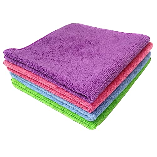 Sobby Super Absorbent Extra Thick Multipurpose Microfibre Cloth ,(Set Of 4 - Multicolor - 40 X 40 Cm)