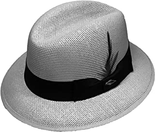 Gray Pachuco Lowrider Fedora Style Brim Hat Grey