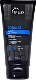 TRUSS Acqua Gel - Medium To Strong Hold Flexible Hair Gel For Men & Women - Alcohol Free Formula Used To Style Dry Or Damp Hair - Defines, Adds Texture & Protects While Providing Perfect Styling