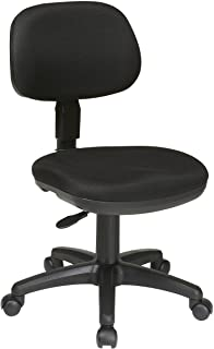 Office Star Molded Foam Seat and Back Armless Basic Task Chair, Black