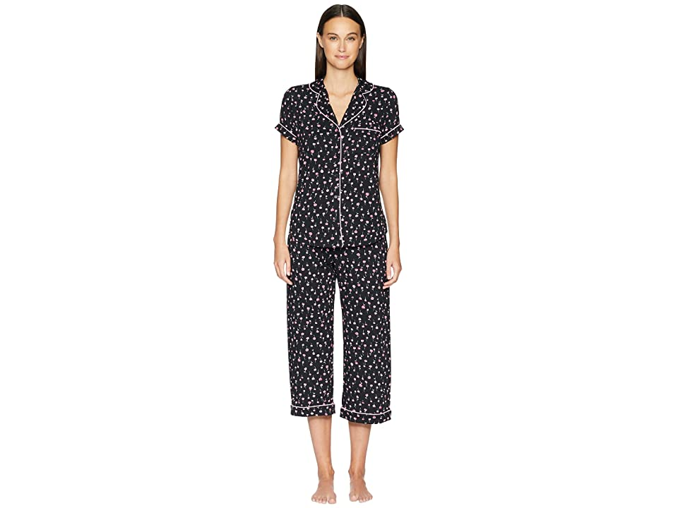41dfe961529 Kate Spade New York All Dolled Up Cropped Pajama Set (Mini Floral) Women s  Pajama Sets