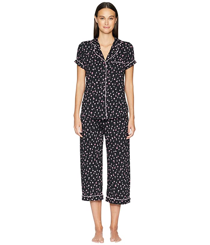 Kate Spade New York All Dolled Up Cropped Pajama Set (Mini Floral) Women