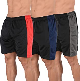 YoungLA Mens Shorts Pack of 3 Athletic Basketball Gym Workout Running 116