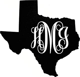 texas monogram decal