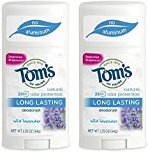 Tom's of Maine Natural Long-Lasting Deodorant Stick Lavender 2.25 Oz (Pack of 2)