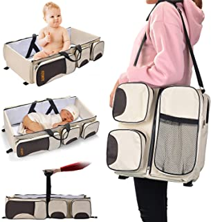 Diaper Bag with Stroller Attachment Must Have Baby Travel Accessory Baby Travel Bed Ultimate Travel Bed for Babies Travel Crib Diaper Bag GoBaybee 3 in 1 Infant Portable Changing Station