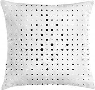 Valentina Walsh Big Little Pop Art Dots Pillow Cover Linen Throw Pillow case Sofa Cushion Covers Set Couch Square Hypoallergenic - Wrinkle Resistant Pillowcase 24 x 24 Inch