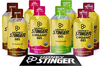 Honey Stinger Organic Energy Gels – Variety Pack  – 8 Count – 2 of Each Flavor – Energy Source for Any Activity – Acai & Pomegranate, Strawberry Kiwi, Chocolate & Fruit Smoothie – Plus Sticker