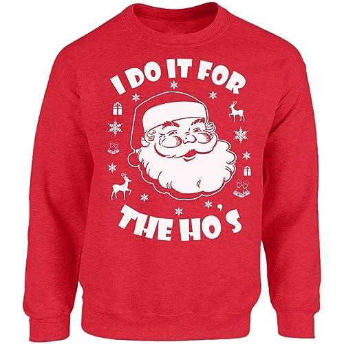 Vizor I Do It The Hos Sweatshirt I Do It The Hos Sweater Ugly Christmas  Sweatshirt 8a698e344