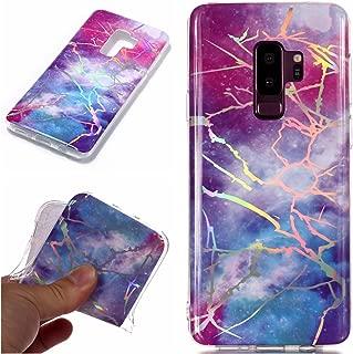 Galaxy S9 Plus Case, ZERMU Laser Shiny Unique Marble Design Anti-Scratch & Shock Proof Bumper Slim Fit Flexible Ultra-Thin Soft TPU Case for Samsung Galaxy S9 Plus 6.2